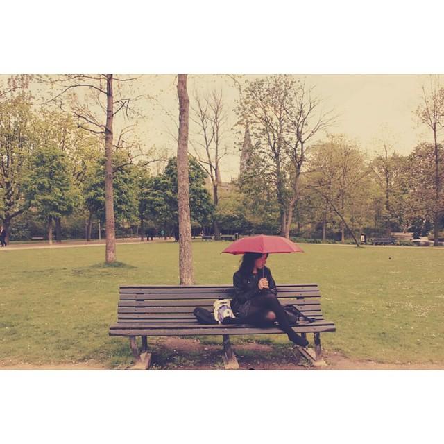 Me encantei pelas tulipas, mas essa foto diz tudo sobre meu amor por Amsterdã