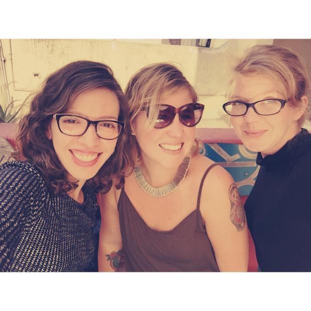 Com Isa e Simone, muito felizes pós-sopas polonesas <3